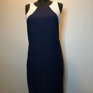 Banana Republic navy and white dress size 4
